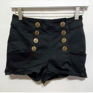 Express Jeans Black Short Shorts Denim Size 0